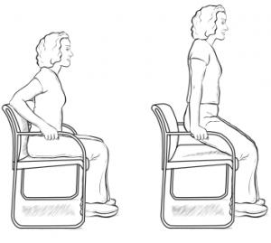 بشین پاشو (با استفاده از صندلی)