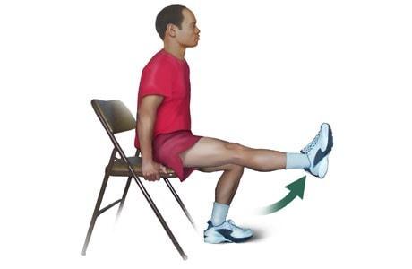 تمرین خم کردن زانو در حالت نشسته بدون مجافظ برای صاف شدن زانو