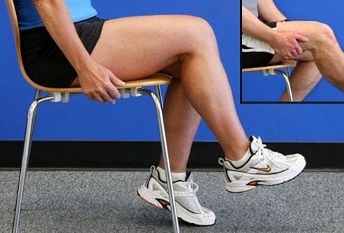 مارش مفصل ران در حالت نشسته برای تقویت عضلات چهار سر ران س ته