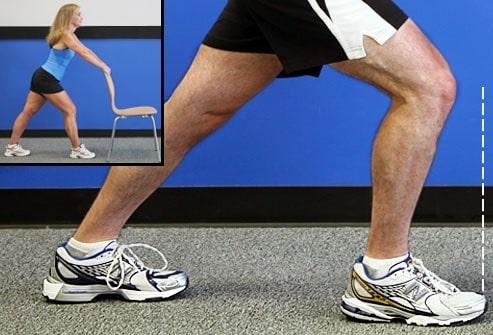 کشش ساق پا برای تقویت عضلات چهار سر ران
