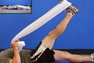 کشش عضله همسترینگ برای تقویت عضلات چهار سر ران
