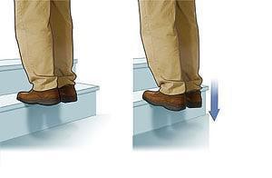 کشش پا روی پله